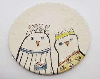 Decorative plate, Ceramic plate, Hand paint plate, Ceramic wall art, Wall plate, Decorative wall plate, Pottery handmade, Ceramic sculpture,
