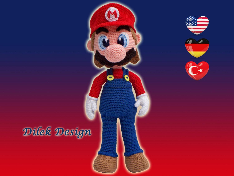 Amigurumi Crochet Pattern : Mario - Amigurumi Mario - pattern - Super Mario - Crochet pattern - Knitted Stuffed Mario - doll - toy- nintendo