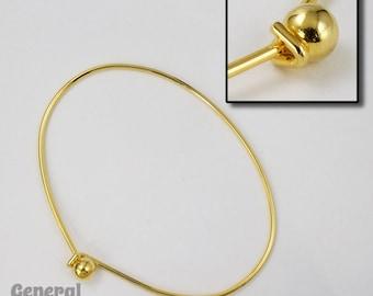 70mm Gold Tone Oval Screw Ball Bracelet #MFG020