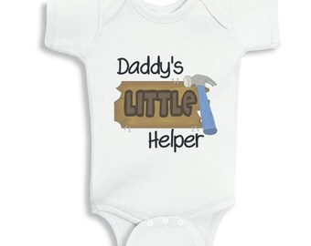 Daddy's Little Helper -  personalized baby bodysuit