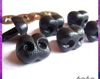 15 mm Black Plastic Nose Animal Amigurumi Safety Noses - 6 pieces (BN15)