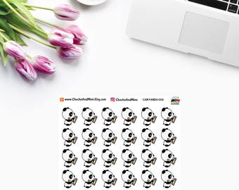 Amanda The Panda ~ To Do ~ Planner Stickers CAM PANDA 003