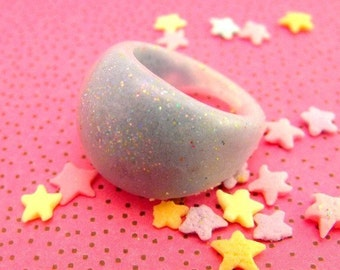 Periwinkle Cloud - Resin Bubble Ring