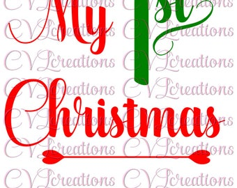 My first 1st Christmas SVG PNG DXF