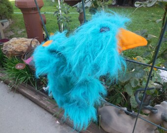 Marionette Puppet, Large Furry Blue 20 in Creature Marionette Puppet, another head on bum area, Great American Fun Corps, String Puppet :)s*