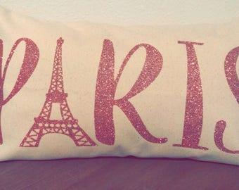 Paris Decorative Pillow   Throw Pillow   Eiffel Tower