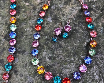 Multicolored Swarovski set