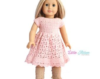 """Download Now - CROCHET PATTERN 18"""" Doll Spring Petal Dress Crochet Pattern"""