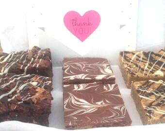 Peanut Butter Brownie, Flapjack, Tiffin Traybake Gift Box Hamper - Peanut Butter Box