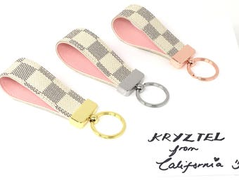 Repurposed/Upcycled Rose Ballerine Louis Vuitton Keychains
