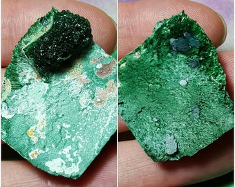 Rare MALACHITE Natural Bright Green Crystal Mineral Specimen From Namibia Africa