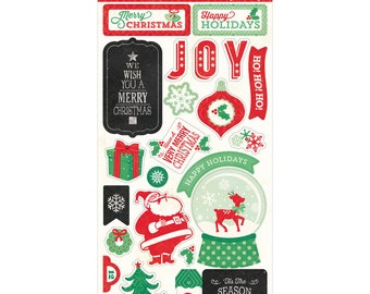 Echo Park Chipboard Stickers - Christmas Cheer
