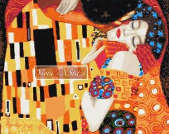 Kiss by Klimt (v3) counted cross stitch kit