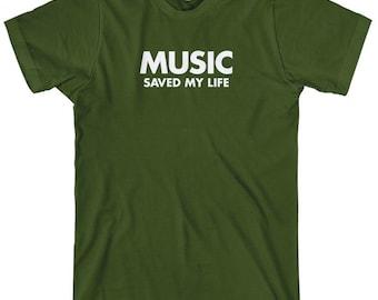 Music Saved My Life T-shirt - Men and Unisex - XS S M L XL 2x 3x 4x - Music Tee - 4 Colors