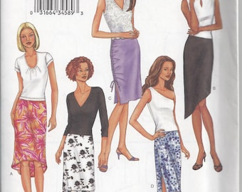 Butterick 3392 Fast & Easy Skirt Sewing Pattern with Several Variations, Misses'/Misses' Petite Sizes 6 8 10, Uncut