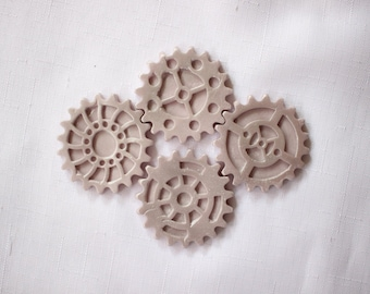 Gears cupcake toppers 12pcs bolts screw tools cupcake toppers  edible fondant cake topper baby shower bachelorette Inscrbinglives