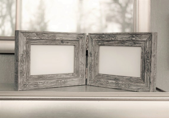 Double Hinged Frames, Distressed barn-wood, Rustic Frame,Mother\'s ...