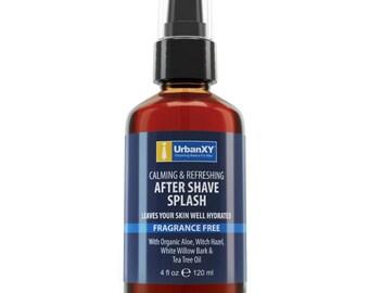 Aftershave Splash 4oz  Aftershave Tonic after shave For Men. BIG 4oz Value Size