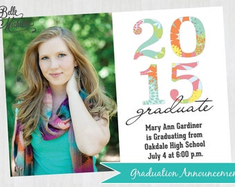 2015 Photo Graduation Announcement