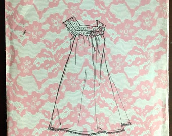 1970's Nightgown pattern - Size: Medium - No. 7021