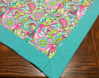 Pink Paisley Receiving Blanket