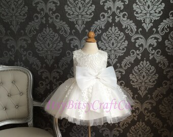 First Communion dress Christening Gown Baby Girl Christening Dress Baptism Dress or Blessing Flower Girl dress