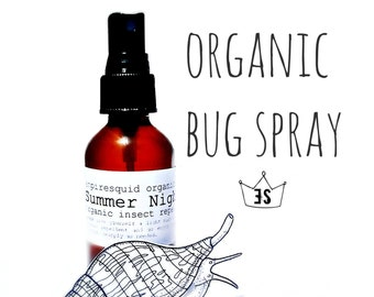 Organic Bug Spray - Bug Repellent - Mosquito Repellent - Insect Repellant - Natural Bug Spray