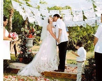 1 Pack - Papel Picado White Wedding Banners