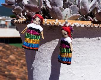 Doll Earrings, handmade in Oaxaca, Mexico, boho, ethno style