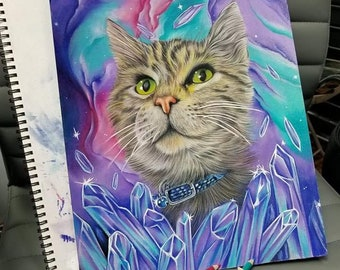 Custom colored pencil pet portraits
