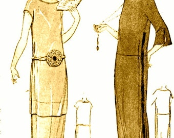 INSTANT DOWNLOAD-Vintage 1920s Downton Abbey flapper dress sewing instructions, 'pattern'- very easy make - PDF