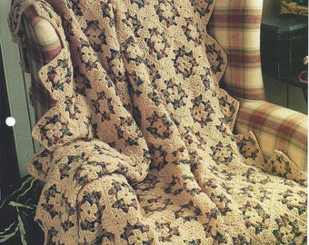 Genuine Country Coziness Crochet Afghan Blanket Pattern, Home Decor, Granny Square, Bedspread, Sofa Throw, Bedding, The Needlecraft Shop