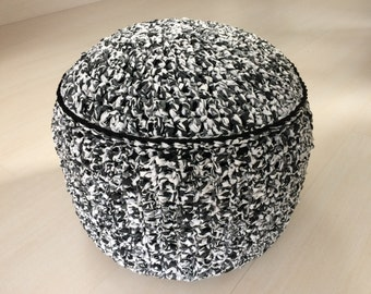 Monochrome footstool pouffe WITH FREE SHIPPING