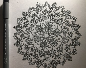 Mandala Coloring page for adults, Instant digital download