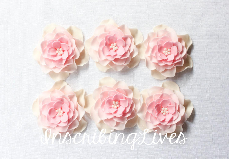 flower cake topper 6pcs edible fondant flowers decorations
