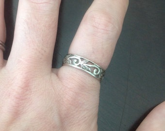 Sterling Silver Vine Ring -- Size 8