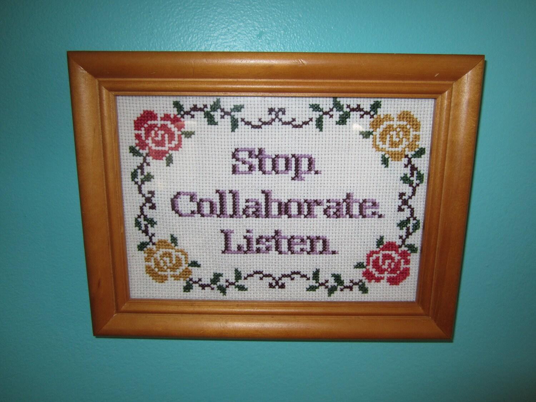 PATTERN Stop Collaborate Listen Vanilla Ice Ice Baby Cross