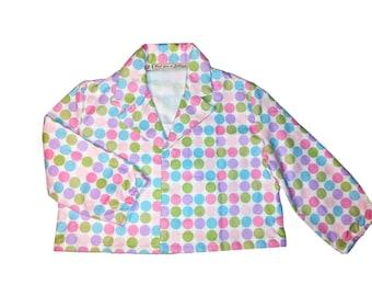 Jacket-flannel polka dot sweater. Size 3 years.