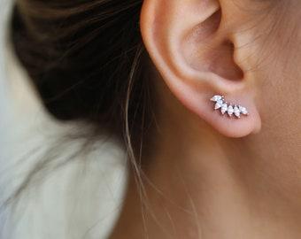 Tiny earrings studs,silver stud, Dainty silver studs,earrings for women, jewelry gifts, gift-for-wife cluster earrings minimalist, gold stud