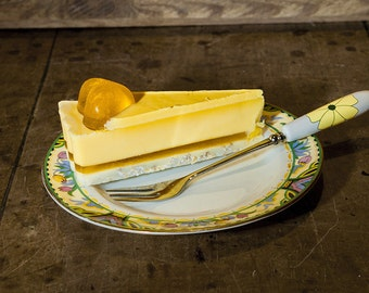 Handmade Apricot Soap Cake Slice - Natural & Handmade - Wedding favours - Vegan - Glycerin - Gift for mum - Birthday gift - Artisan - Eco