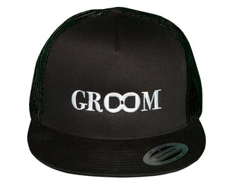 GROOM Hat, Groom Hat for Bachelor Party, Hat For Groom, Embroidered Groom Hats, Grooms Hat, Groom Hat for Honeymoon, Groom Crew Hat
