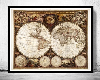 Old world map antique 1596 old world map antique 1660 gumiabroncs Choice Image