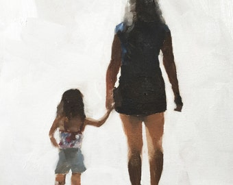 Mother and Daughter painting Mother and daughter art PRINT Mother and Daughter - Art Print - from original painting by J Coates