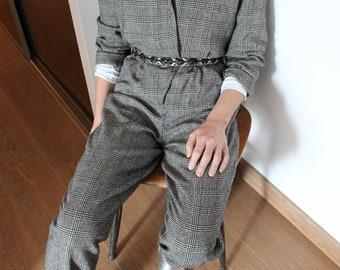 Prince of Wales Check Jumpsuit