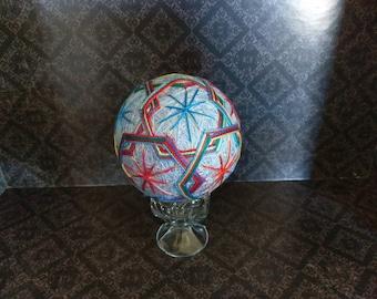 Japanese Temari Ball, decorative ball - bright, multi colors