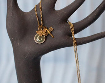 Flitter Letter Charm Necklace