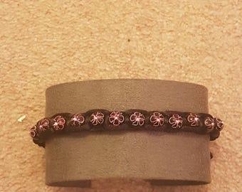 Black and Purple beaded macrame bracelet Friendship Bracelet