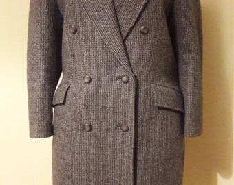 Vintage tailored coat in quality handwoven tweed