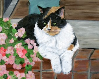 custom painting of a cat from photo mother's day gift cat memorial gift for cat owner cat loss memorialize my cat loss of cat custom cat art