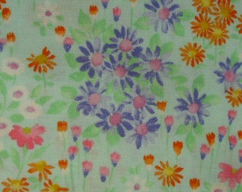 FLORAL FABRIC Easter Garden Alexander Henry Fabric 2002  - 1 yard - #F1